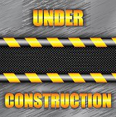 Under construction background with copy space