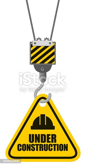 Vector Illustration of a warning safety sign Under Construction Clip Art