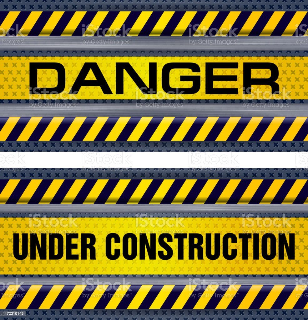 Under Construction, Danger Sign royalty-free stock vector art