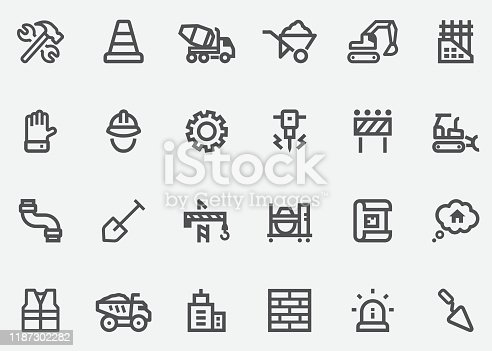 Under Construction Graphics Line Icons