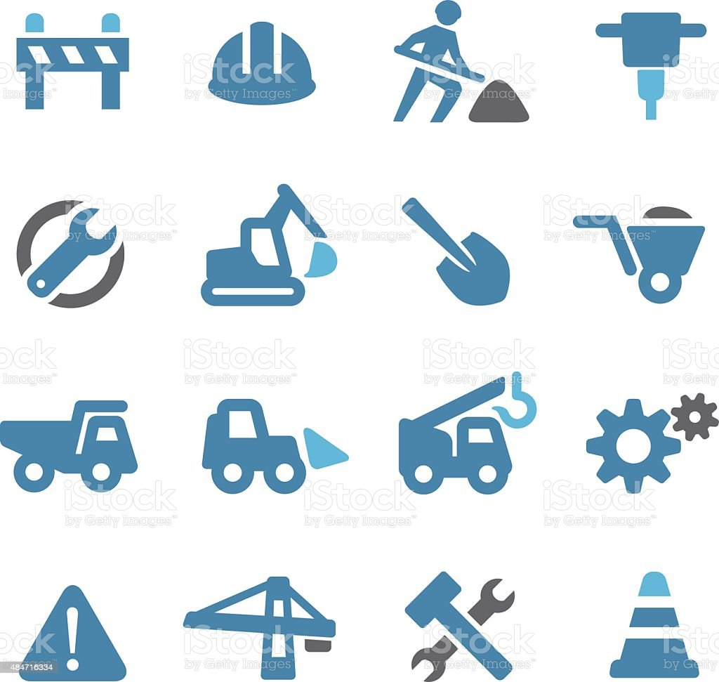 Under Construction Icons - Conc Series vector art illustration