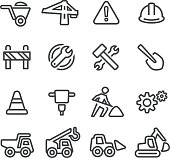 Under Construction Icons - Line Series