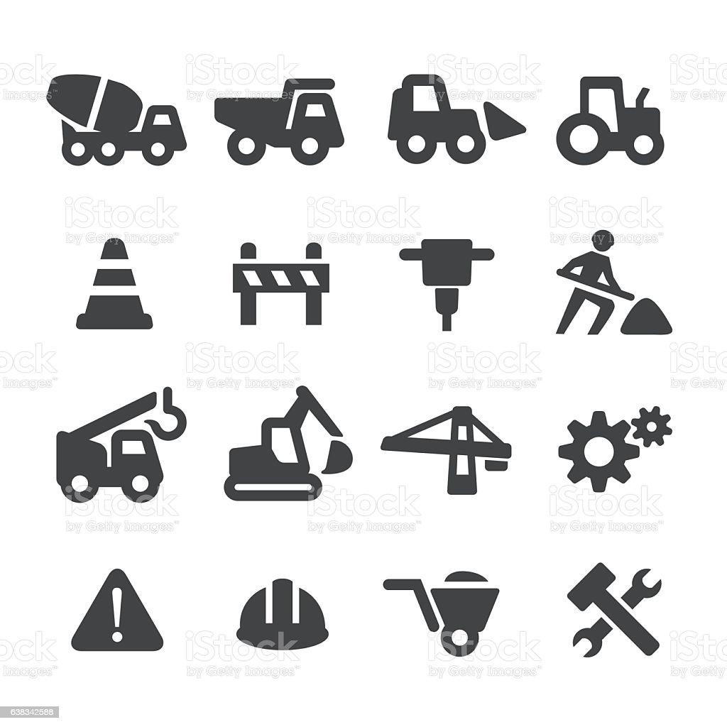 Under Construction Icons Set - Acme Series vector art illustration