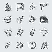 Under construction line icon