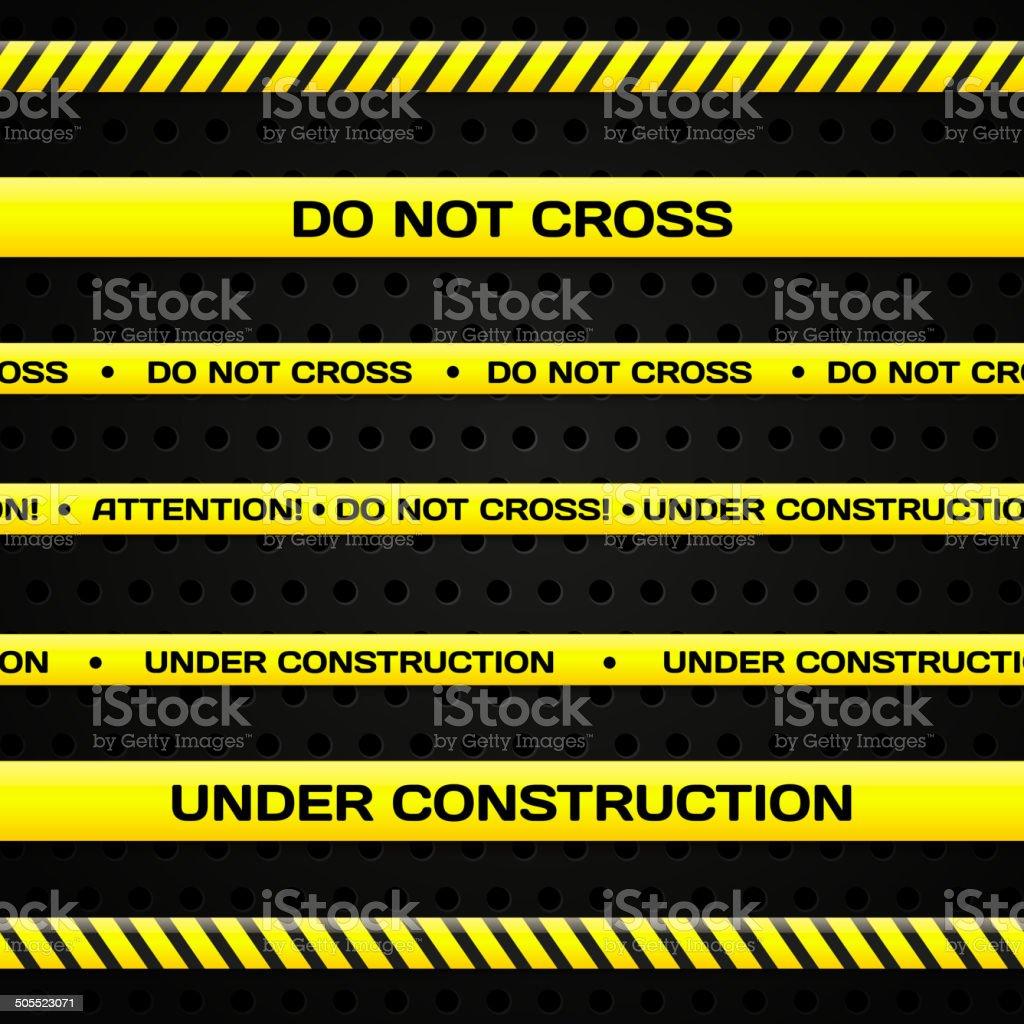Under construction lines vector art illustration