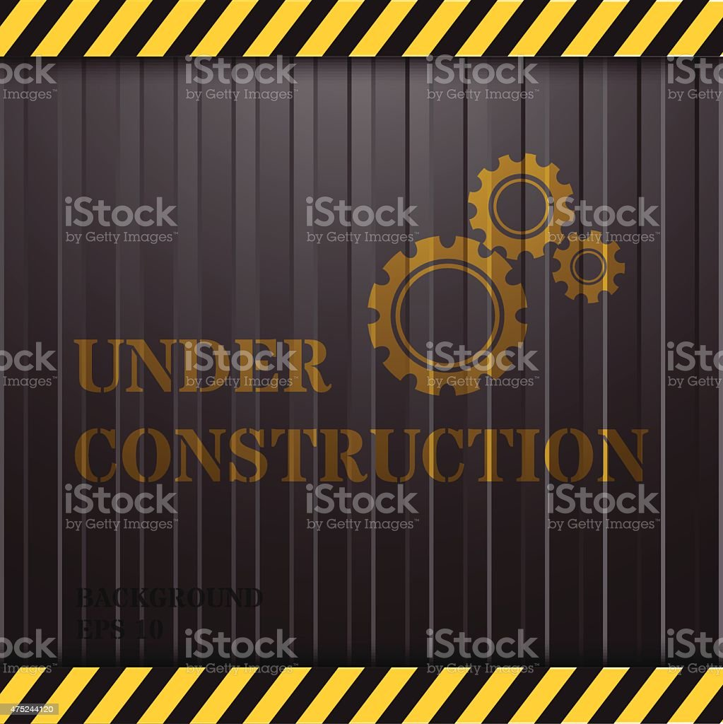 Under Construction on Container Background vector art illustration