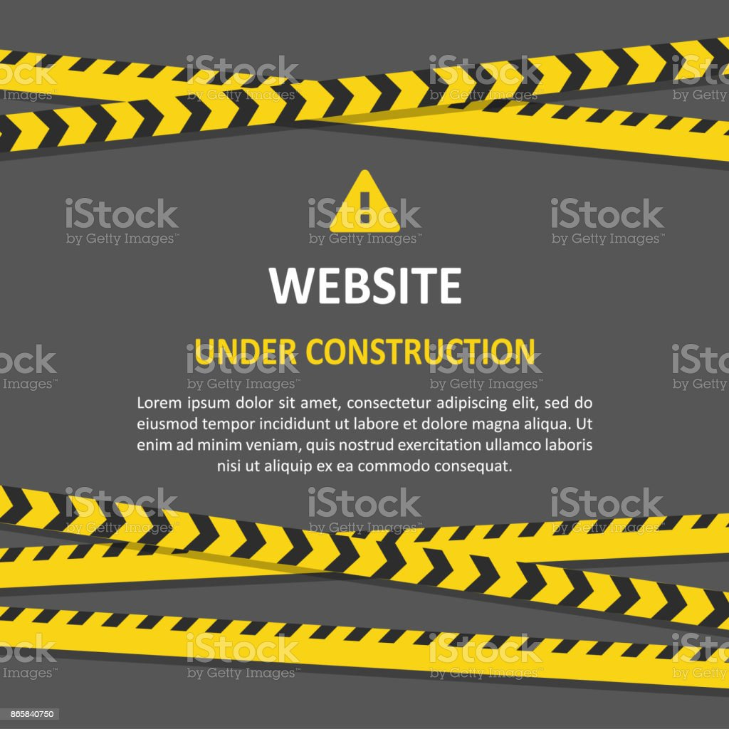 Under construction set vector art illustration
