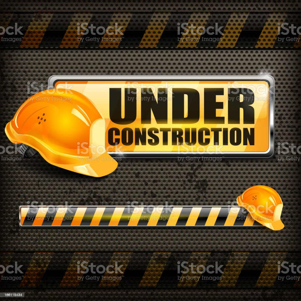 Under construction sign & helmet royalty-free under construction sign helmet stock vector art & more images of backgrounds