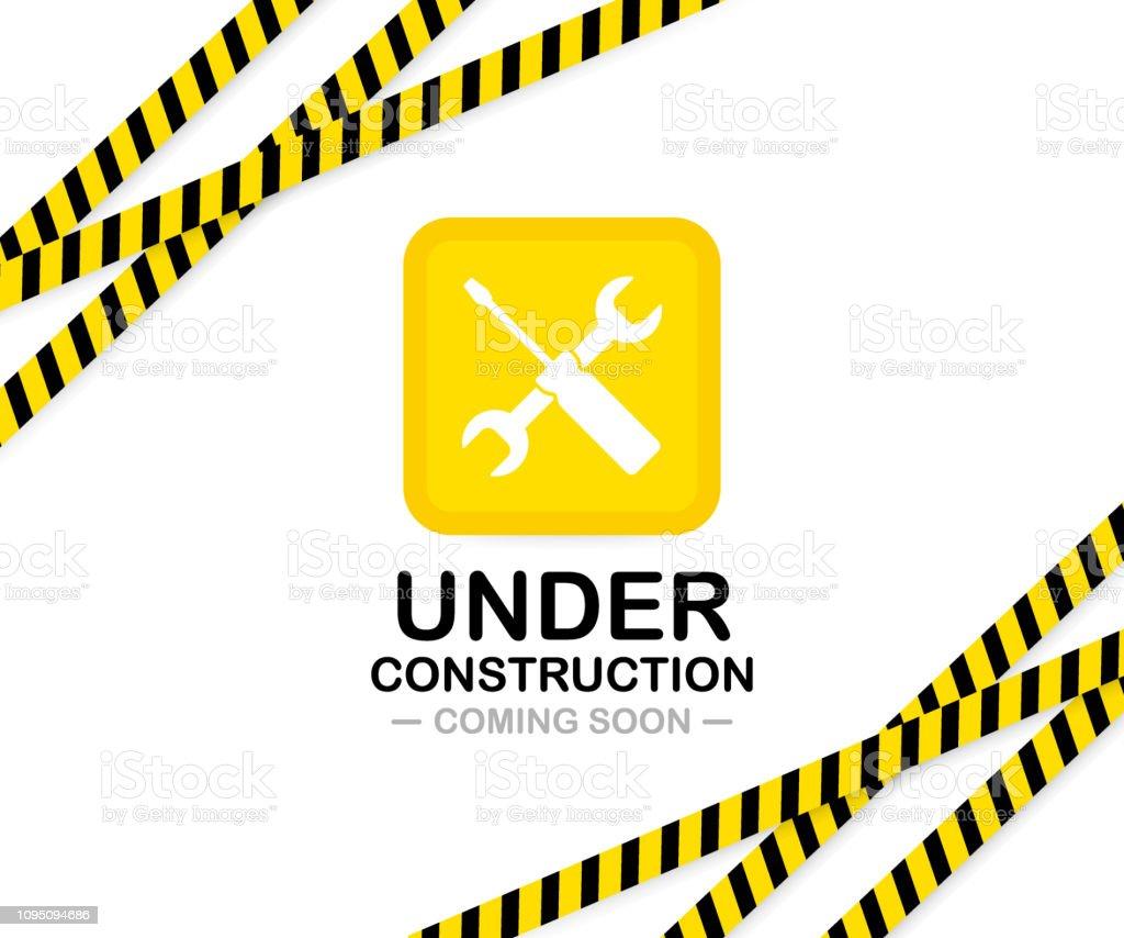 Under construction sign. Vector illustration for website. royalty-free under construction sign vector illustration for website stock illustration - download image now