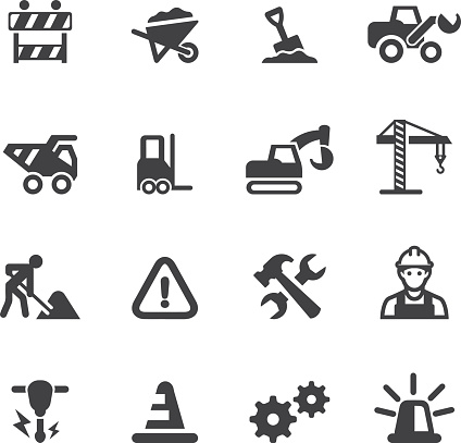 Under Construction Silhouette icons