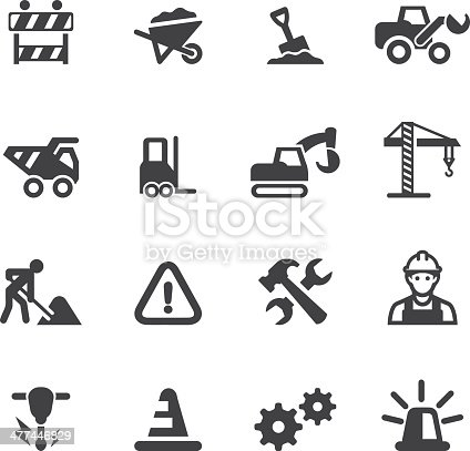 Under Construction Silhouette icons EPS 10