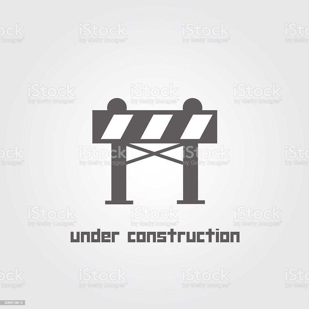 under construction symbol vector art illustration