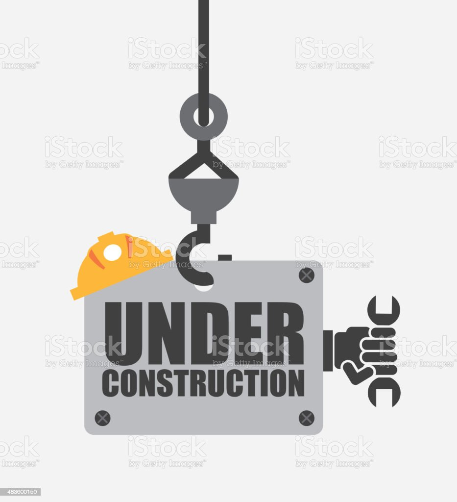 Unter Bau – Vektorgrafik