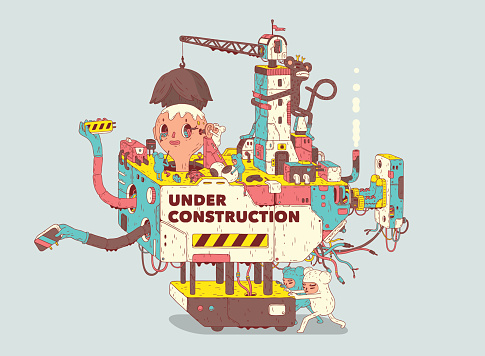 Under Construction Stock Illustration - Download Image Now