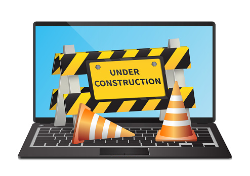 Under construction website page