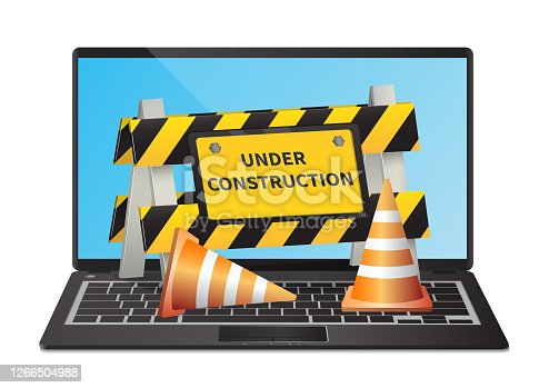 istock Under construction website page 1266504988