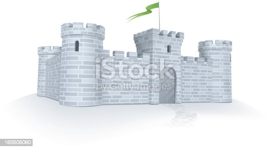 Vector illustration of classic medieval castle