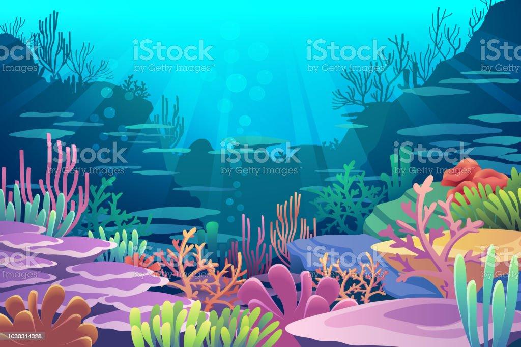 Under Sea View under sea view - immagini vettoriali stock e altre immagini di acqua royalty-free