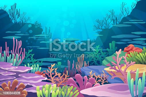 Under Sea View vector eps10