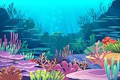 Under Sea View vector eps10