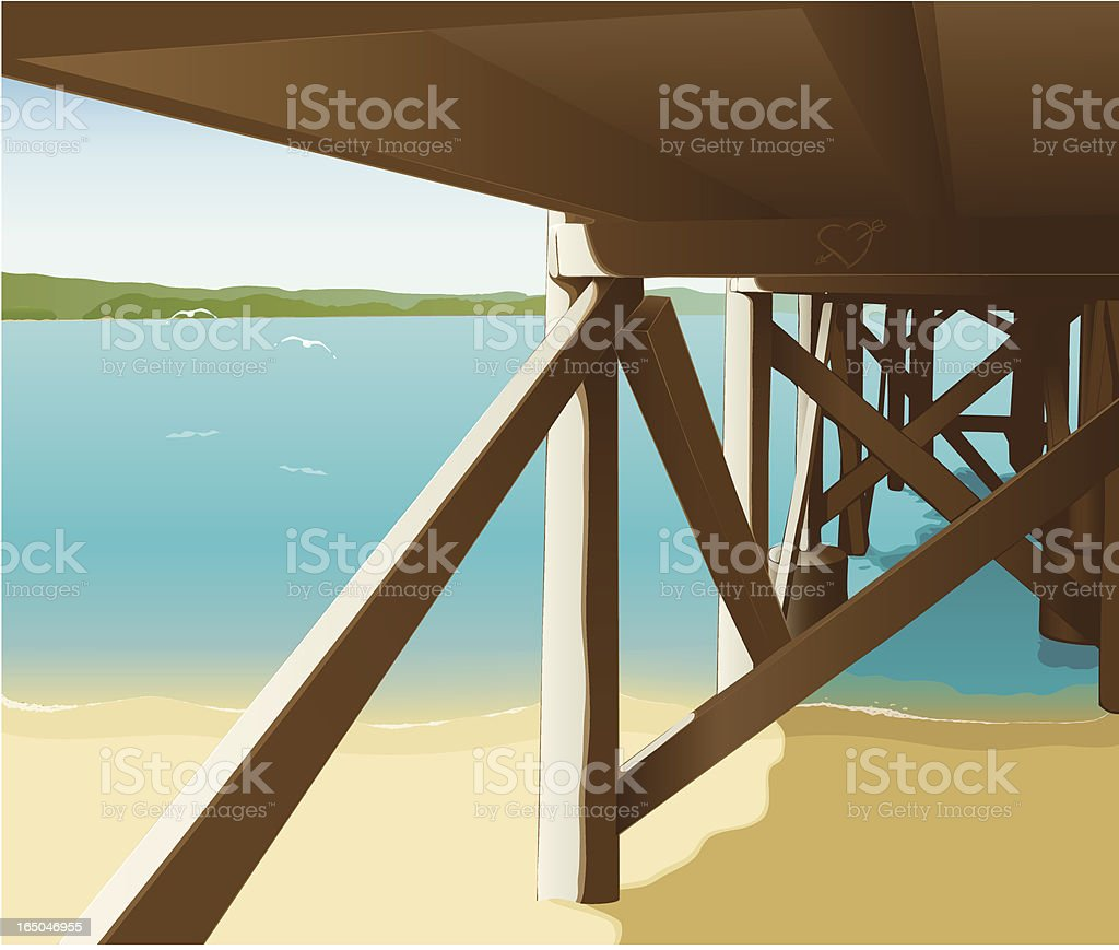 Under The Boardwalk royalty-free stock vector art