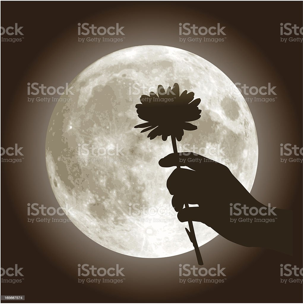 Under the Moon of Love royalty-free stock vector art
