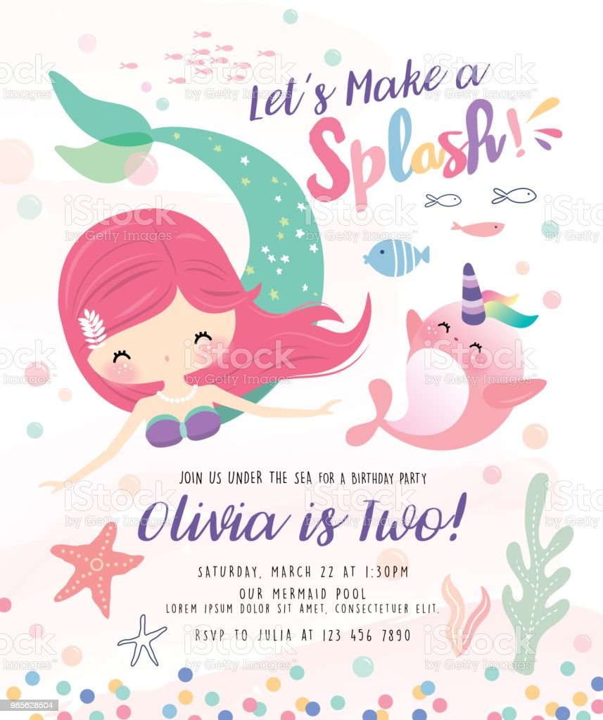Beach Theme Card Stock: Under The Sea Birthday Party Invitation Card Stock