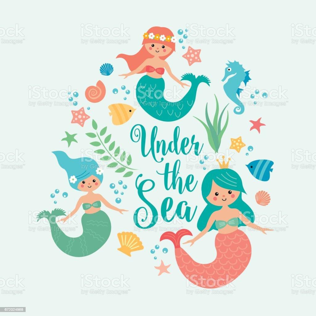 royalty free mermaid clip art vector images illustrations istock rh istockphoto com free clipart mermaid tail free mermaid clipart images