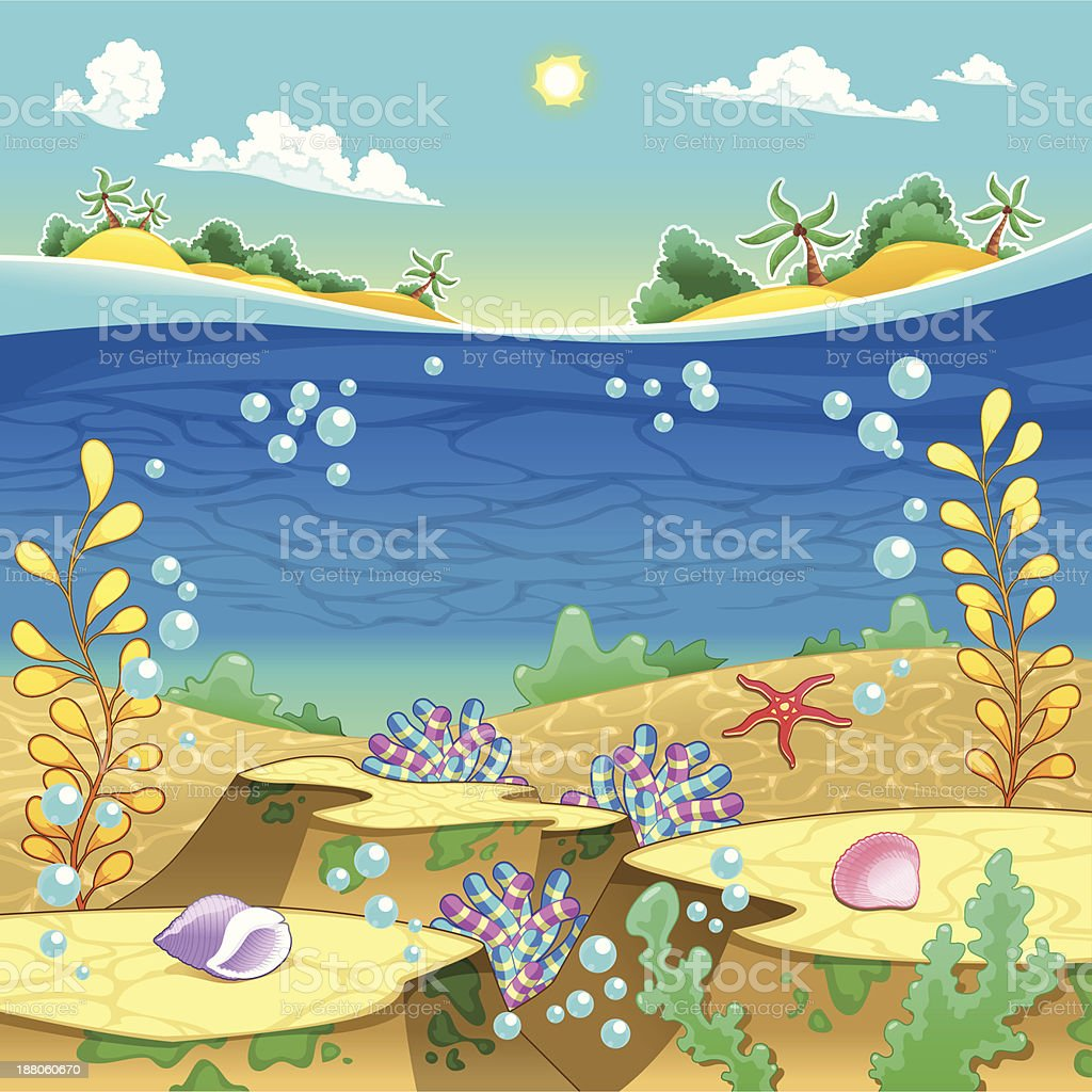 Under the sea. royalty-free stock vector art