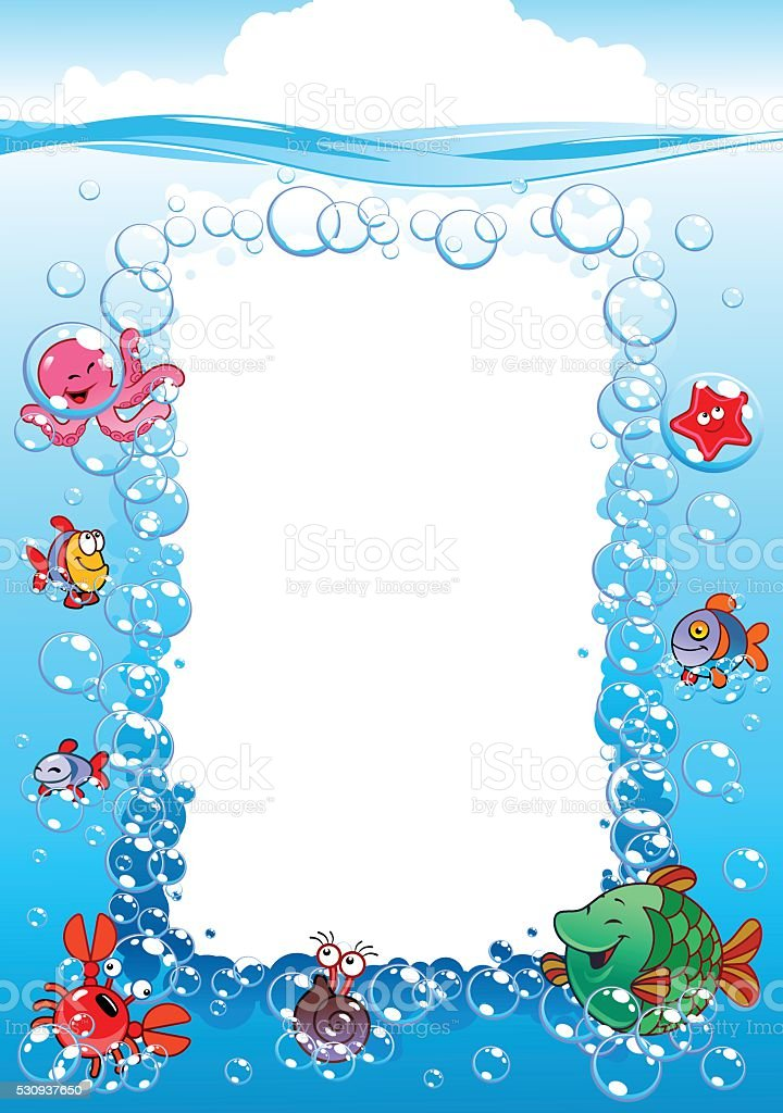 Water World Under The Sea Stock Vektor Art und mehr Bilder von ...
