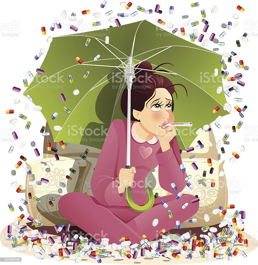 Under the Weather royalty-free stock vector art