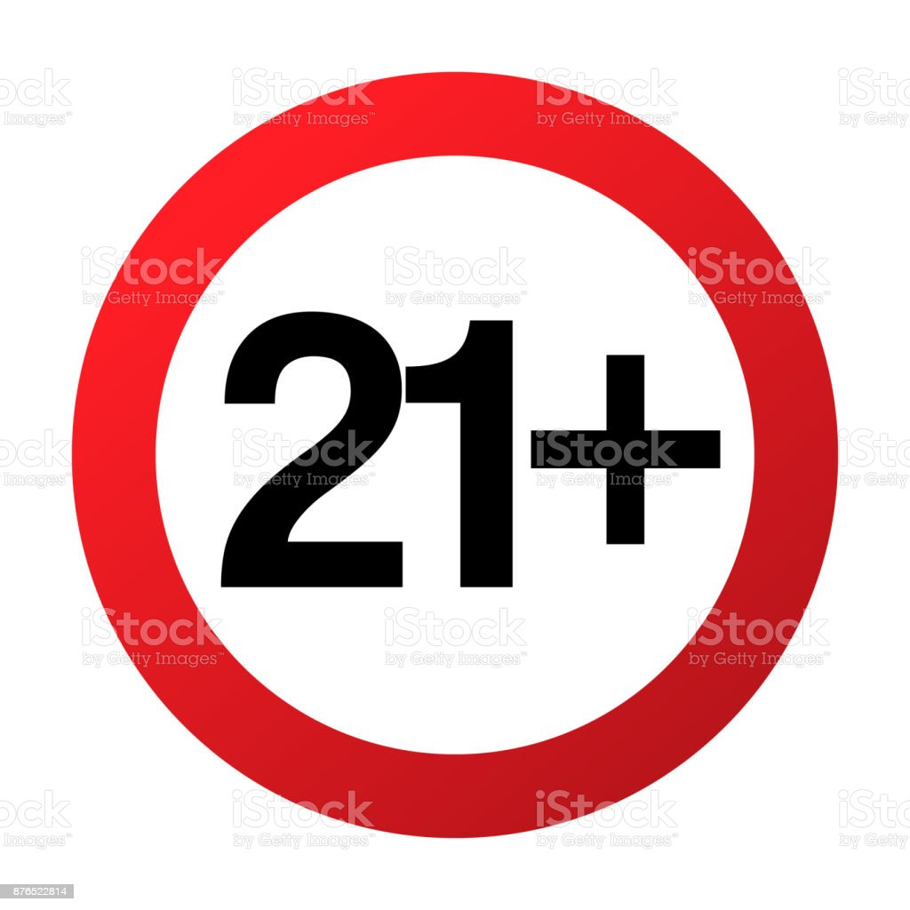 Red amp; Not Crossed People Old Stock 21 Twenty Adults Illustration Parental Allowed For More Years Circle Before Only Teenagers Under Control Numbers Images With Vector Prohibition One Istock - Above Or Sign Art Of