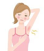 underarm red rash