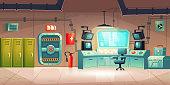 istock Underground bunker interior, bomb shelter 1214412262
