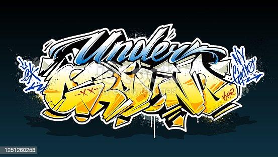 istock Underground Graffiti Lettering Vector Art 1251260253