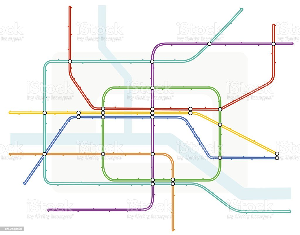 Underground map royalty-free stock vector art