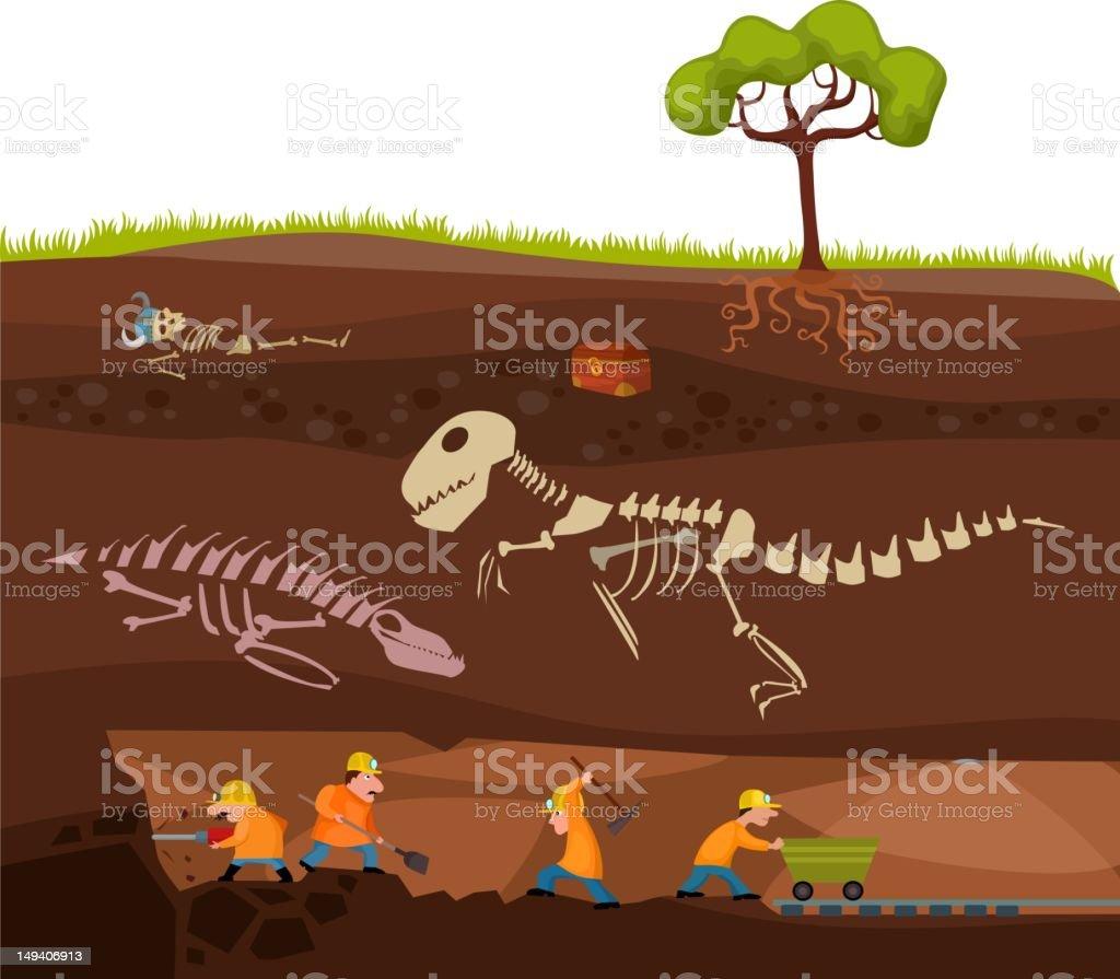 underground vector art illustration