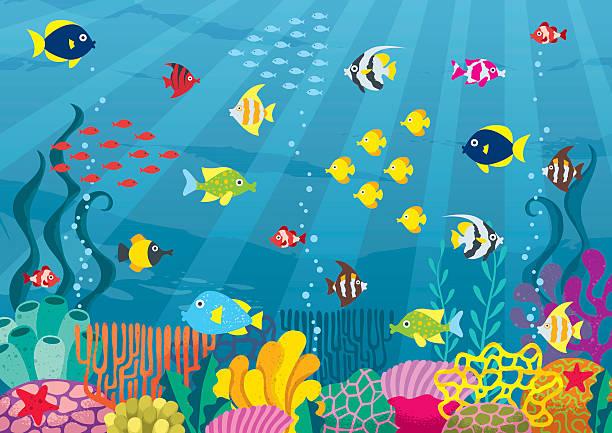 海中 - 水族館点のイラスト素材/クリップアート素材/マンガ素材/アイコン素材