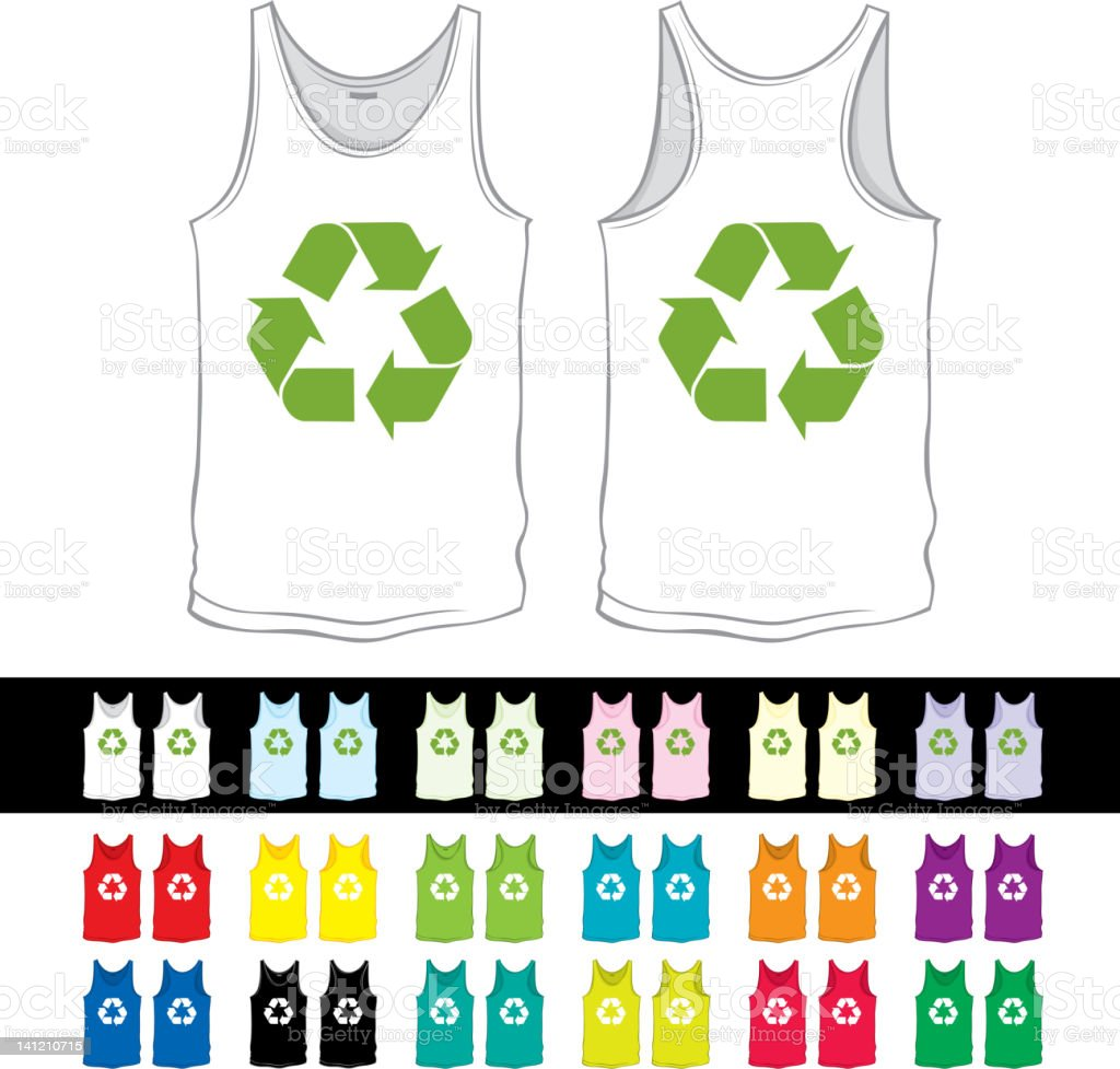 undershirt with recycling symbol royalty-free stock vector art