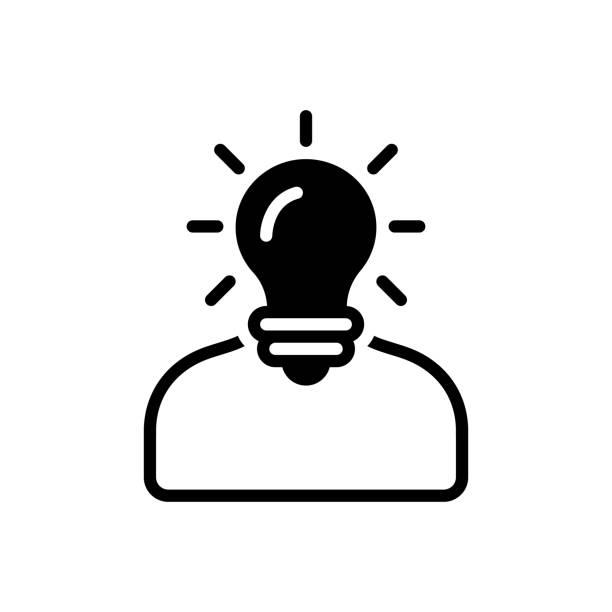 Understand deem Icon for understand, deem, comprehend, idea, perceive, think, ponder, interpret deem stock illustrations