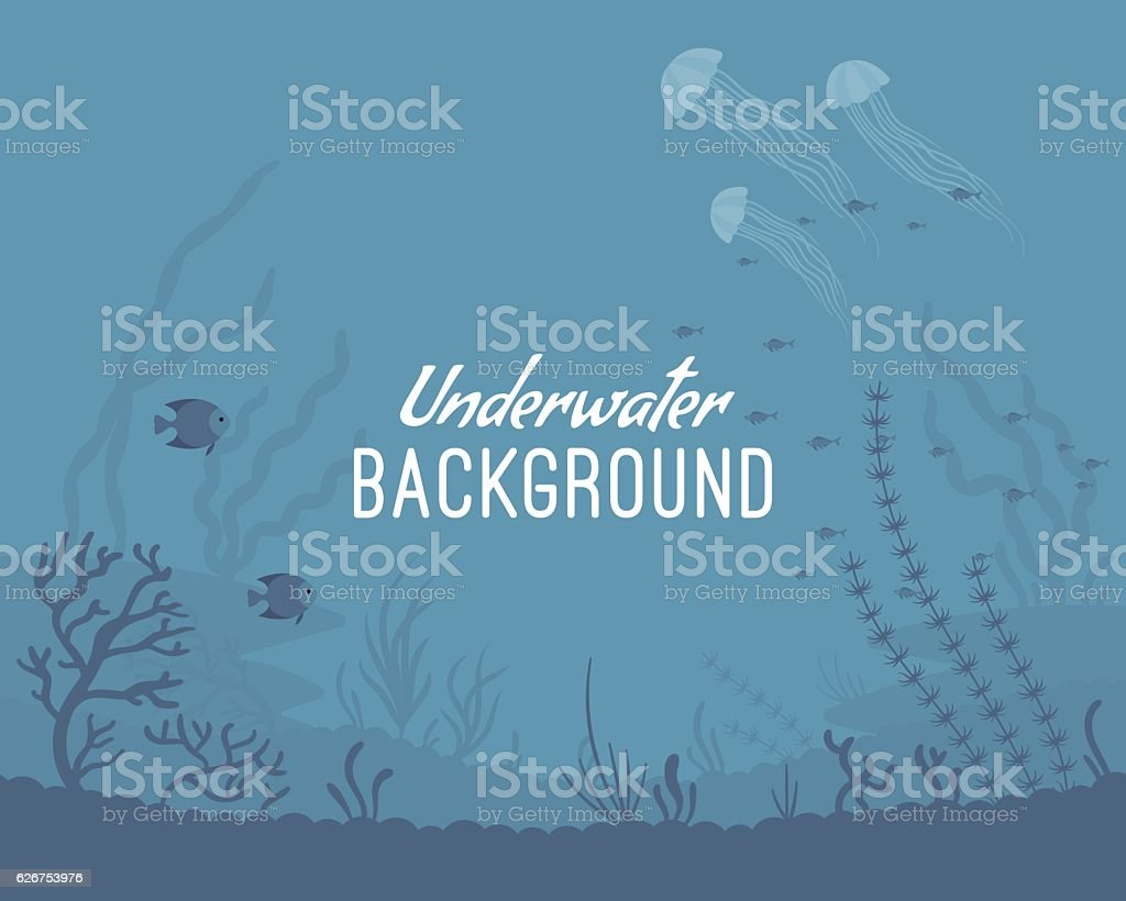 Underwater background template vector art illustration