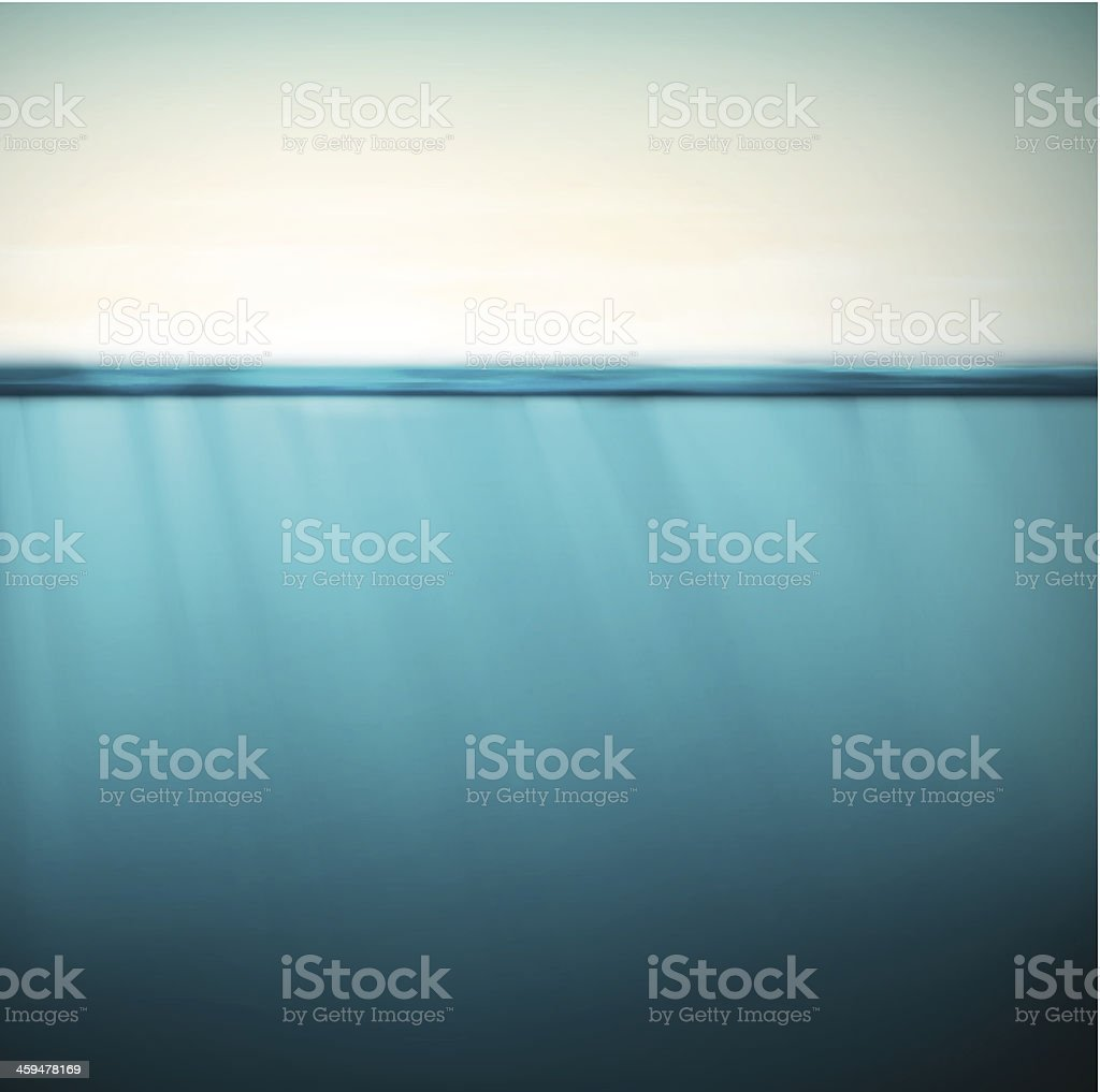 Underwater background vector art illustration