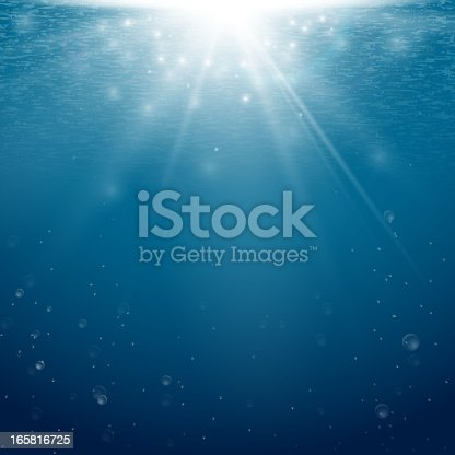 Vector illustration background of an underwater scene. Download includes: