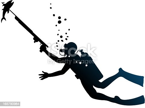 istock underwater diving silhouettes 165790984