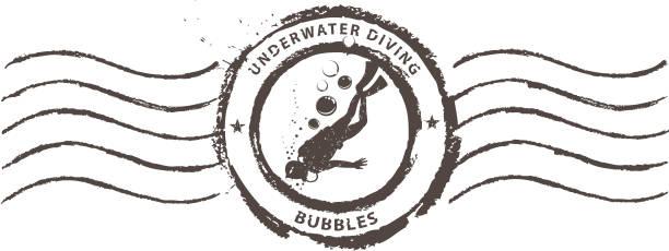illustrazioni stock, clip art, cartoni animati e icone di tendenza di immersione stamp - immerse in the stars