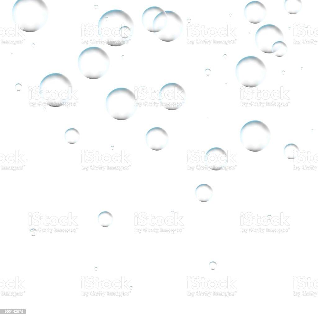 水中シューと空気の泡のストリーム ホワイト バック グラウンド。水、海、水族館で炭酸の輝き。ソーダポップ。シャンパン。発泡性の飲み物。海底のベクトルのテクスチャです。 ベクターアートイラスト