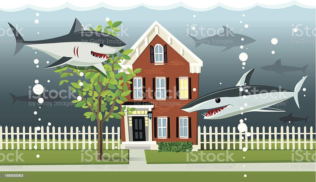 Maison Mortgage sous-marine - Illustration vectorielle