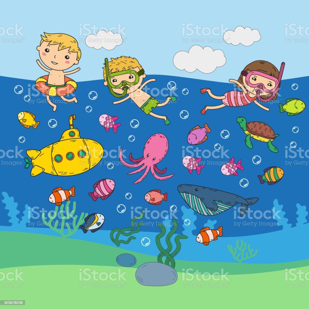 Underwater Kids Waterpark Sea And Ocean Adventure ...
