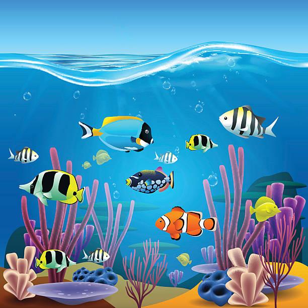 水中の寿命 - 水族館点のイラスト素材/クリップアート素材/マンガ素材/アイコン素材