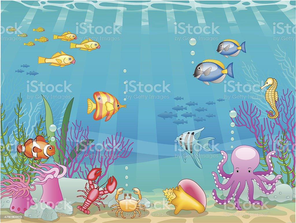 underwater scene royalty-free stock vector art